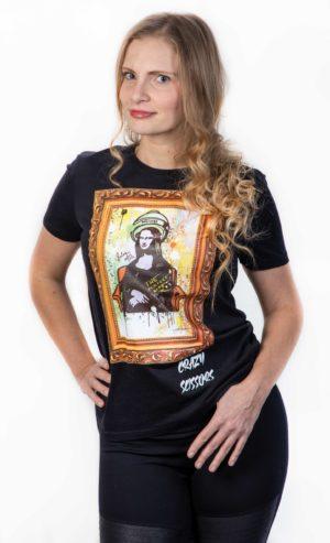 Unisex Tričko Crazy Scissors Mona Lisa