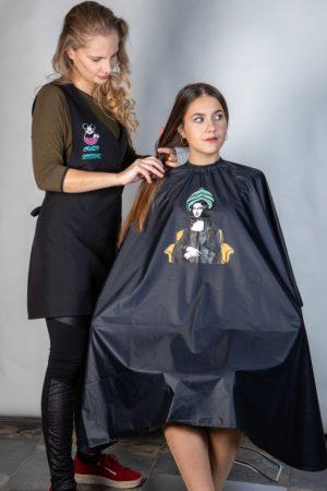 Kadeřnická pláštěnka Crazy Scissors Mona Lisa