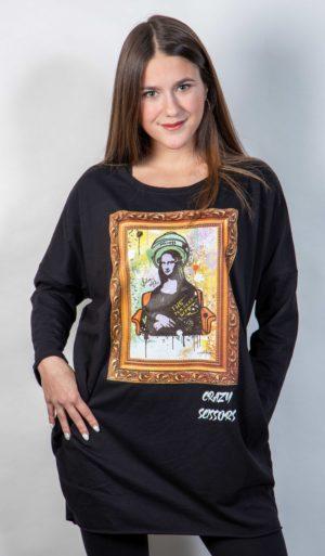 Šaty s kapsami Crazy Scissors Mona Lisa Unisize